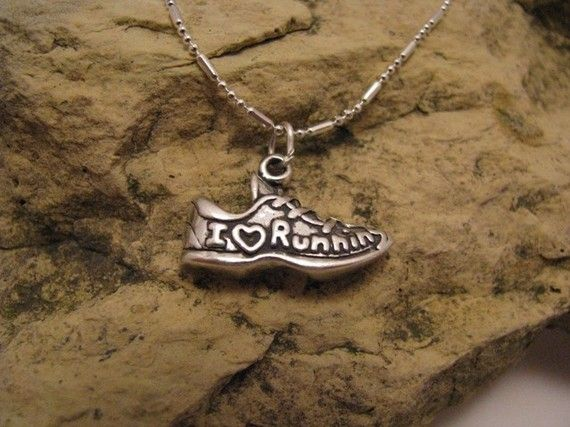 I Love Running Sterling Silver Charm by JessicasGifts on Etsy, $28.00