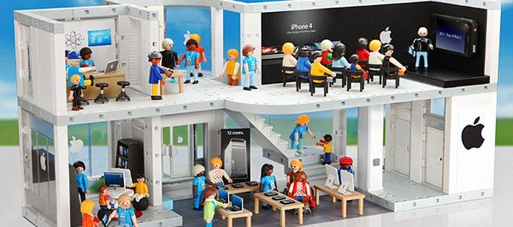 L'Apple Store dans le monde des Playmobil
