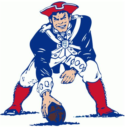 New England Patriots logo 1971-92