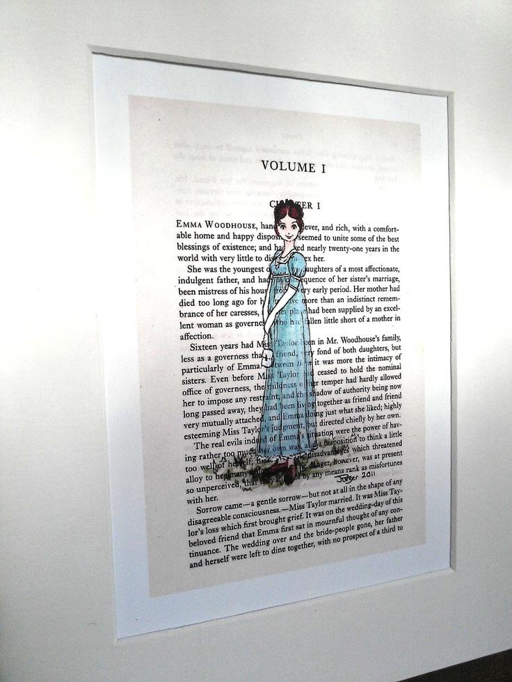 Emma Print - 5 x 7 - Jane Austen - Emma Woodhouse. $13.50, via Etsy.