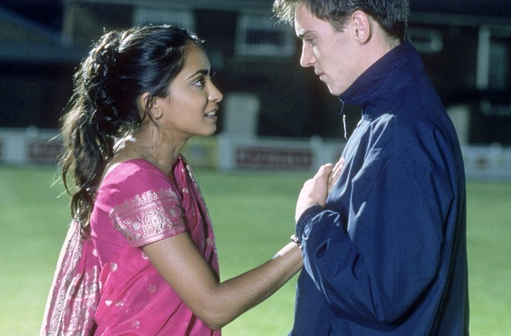 "Parminder Nagra in ""Bend It Like Beckham"" (with Jonathan Rhys-Meyers)"