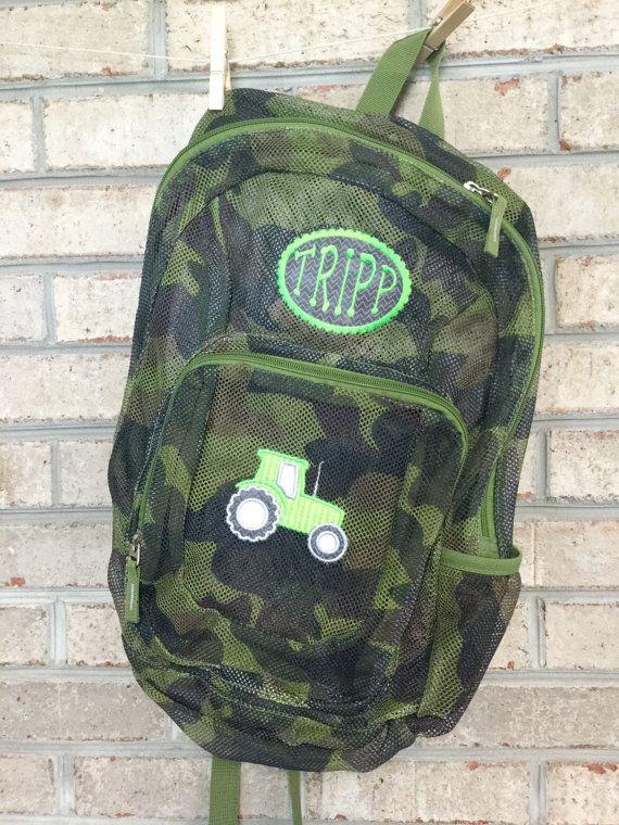 Monogrammed Backpack  Mesh Backpack  Back to School
