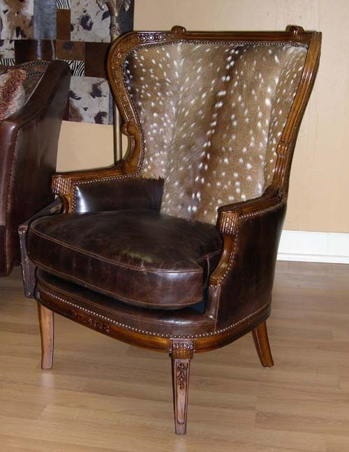 Western Axis Wing Back Chair Western Accent Chairs