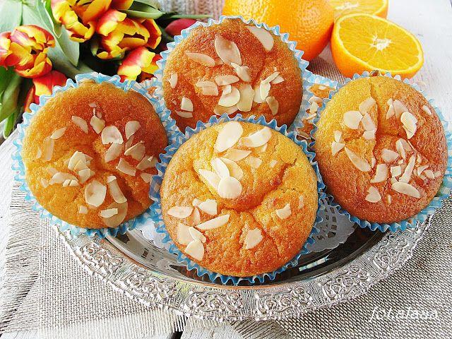 Ala piecze i gotuje: Muffinki pomarańczowe z serkiem