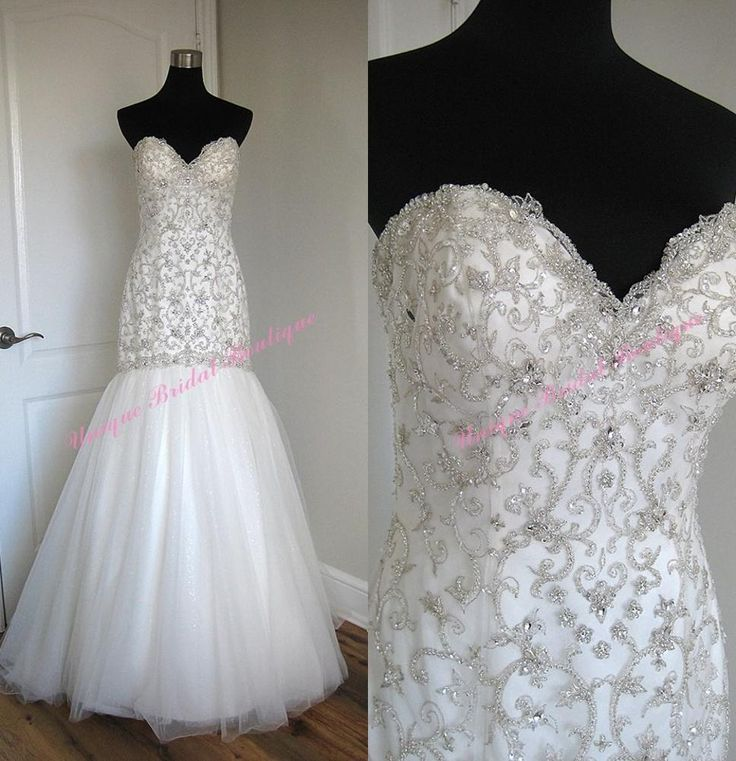 Mermaid bridal gowns with bling discount wedding dresses for Mermaid style wedding dresses with bling