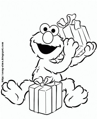 Free Elmo coloring pages, Elmo activity sheets and Elmo party invitations - also a whole page dedicated to Elmo's song and lyrics.