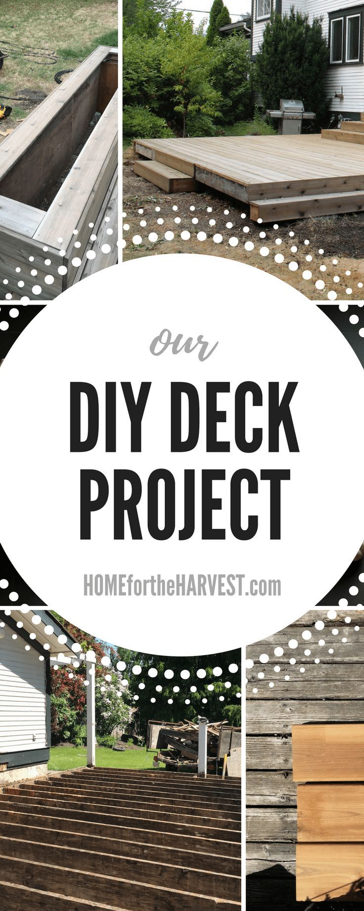 Wow! This DIY deck project took us a few weekends this summer - and was TOTALLY worth it! We laid new cedar decking to update our old deck. #deck #DIYdeck #deckproject #cedardecking