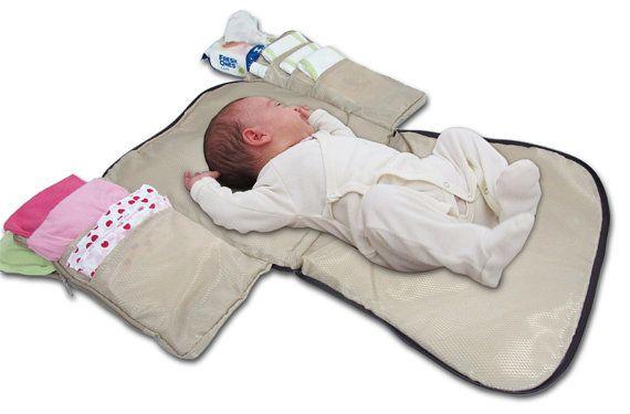Pad de changer de couches parfaitement tote à sac à couches poussette bébé sacs élégant et fonctionnel brillant tissu noir