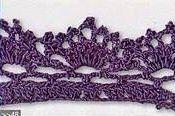 Patrón #1413: Puntilla a Crochet | CTejidas [Crochet y Dos Agujas]