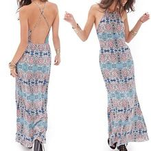 lastest sexy woman spaghetti strap bodycon dress,crossback floral maxi dress Best Seller follow this link http://shopingayo.space