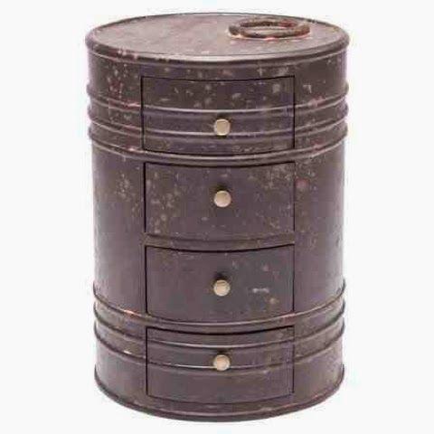 oil drum can drawer dresser £65