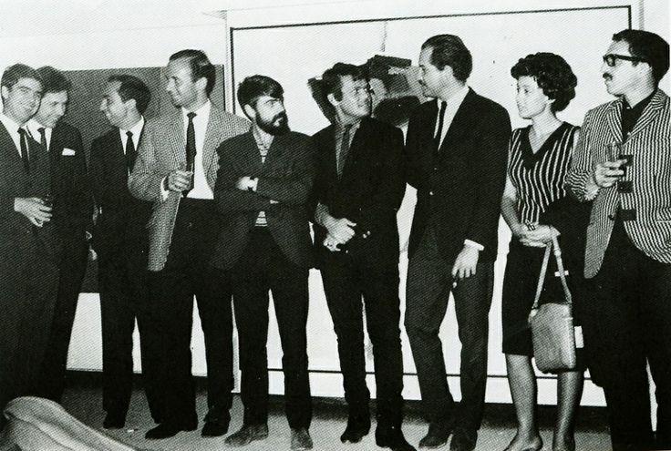 Juan García Ponce, Juan Guerrero, Juan Vicente Melo, Fernando García Ponce, José Luis Cuevas, Carlos Fuentes, Maka Strauss y Gabriel García Márquez