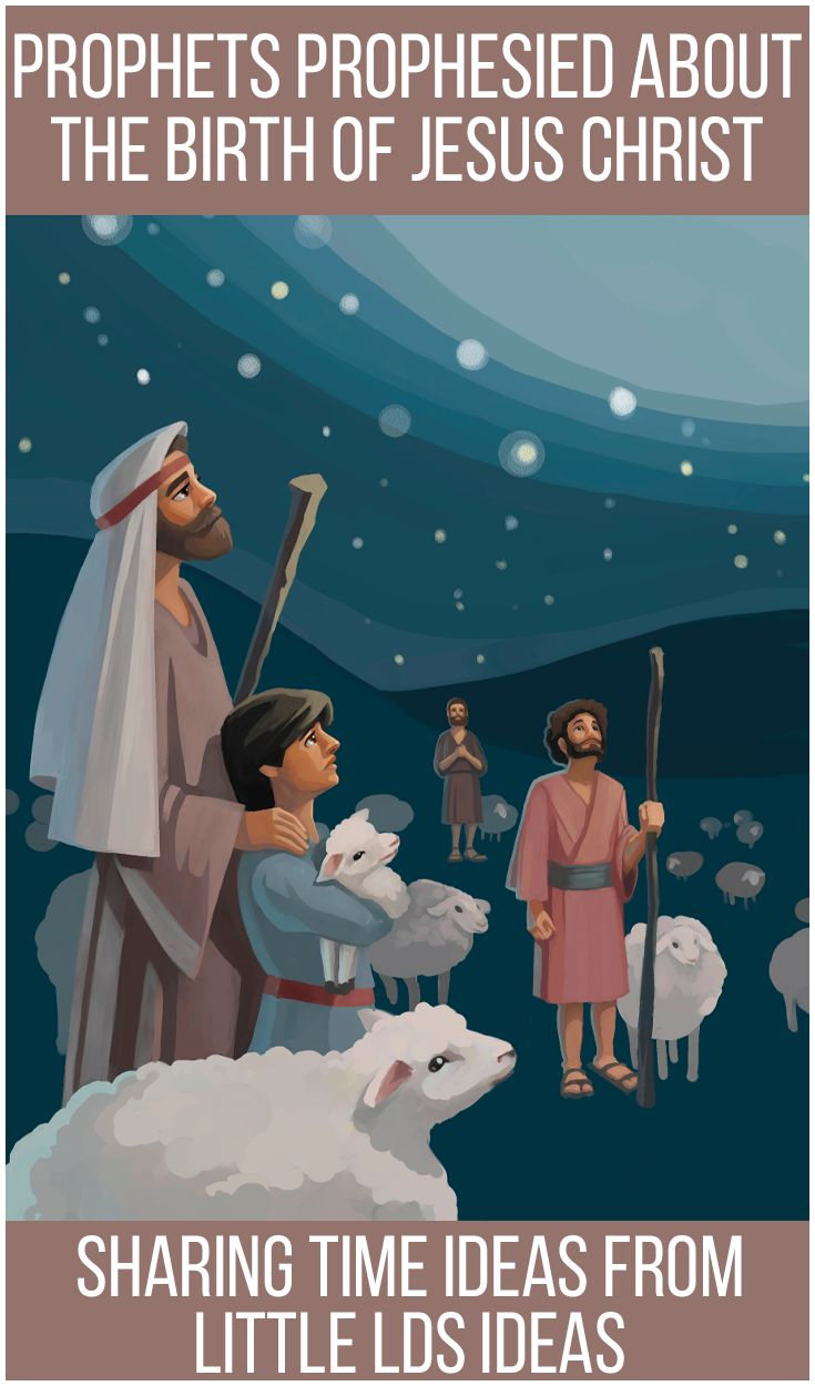 December 2016 Sharing Time Idea: Prophets Prophesied About the Birth of Jesus Christ. via @https://www.pinterest.com/littleldsideas/
