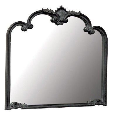 Moulin Noir French Overmantel Mirror