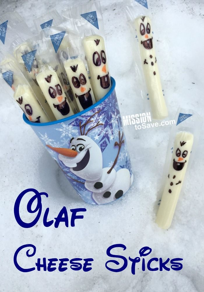 See how to draw these adorable Olaf Cheese Sticks.  They are perfect for any Frozen or Disney themed party. #DisneySide