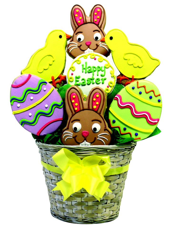 168 best decorated cookies easter images on pinterest easter vintage photo of a happy easter basket of cookies negle Image collections