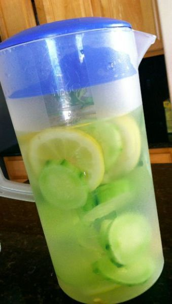 Lemon Cucumber Detox Water -  Any diet you do, should start with this!  So refreshing :)