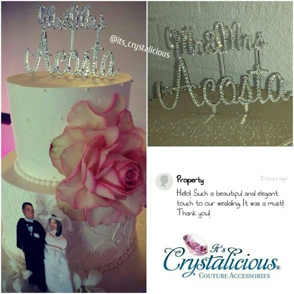 I love seeing photos of my Crystalicious® products from my happy customer's especially when they are used for such special events    www.itscrystalicious.com  www.ItsCrystalicious.etsy.com   #bling #bridal #crystals #crystalicious #caketopper #cake #cakejewelry #designer #diamonds #fashiondesigner #glam #groom #handmade #instawedding #ido #love #married #perfect #rhinestones #sparkles #swarovski #swarovskielements #trend #weddingcake #wedding #weddinginspiration #happycustomer #lovemyjob