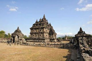 Traveling to the historic building of Plaosan temple in Klaten