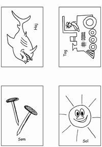 Klap stavelser - put i æske 1 - 2 & 3 klap - Printland
