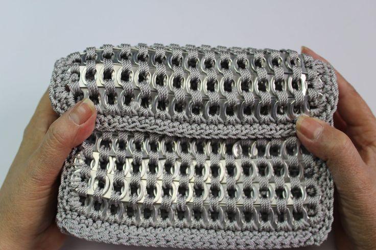 How to crochet soda tab clutch purse ( vid. 1) Subtítulos en español - Y...