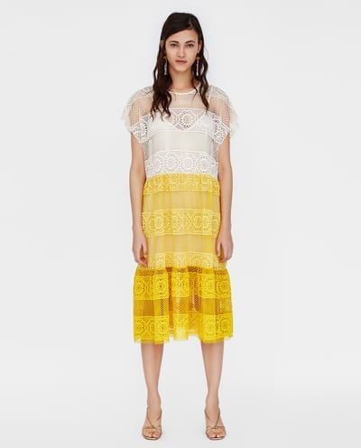 2611d550 Image 2 of COLOUR BLOCK LACE DRESS from Zara | What to wear today?!
