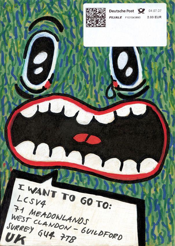 Mail Art from http://mailmeart.com/going-postal/original-mail-art-shop/