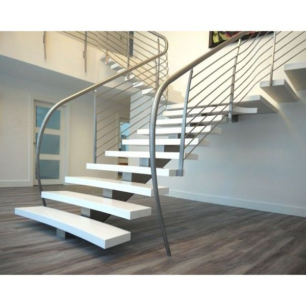 Best Staircase Images On Pinterest Corner Kitchen Cabinets - Suspended style floating staircase ideas for the contemporary home