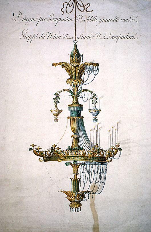 """whitehotel: """" Unknown artist, Design for a chandelier (18th century) """""""