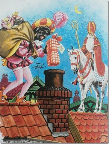 Sinterklaas, op de hoge daken...