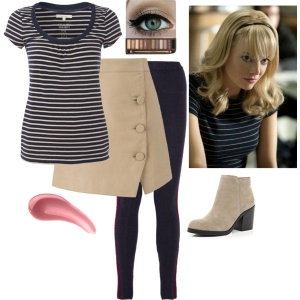 """""""Gwen Stacy Outfit #7"""" by december-mockingjay-98 on Polyvore"""