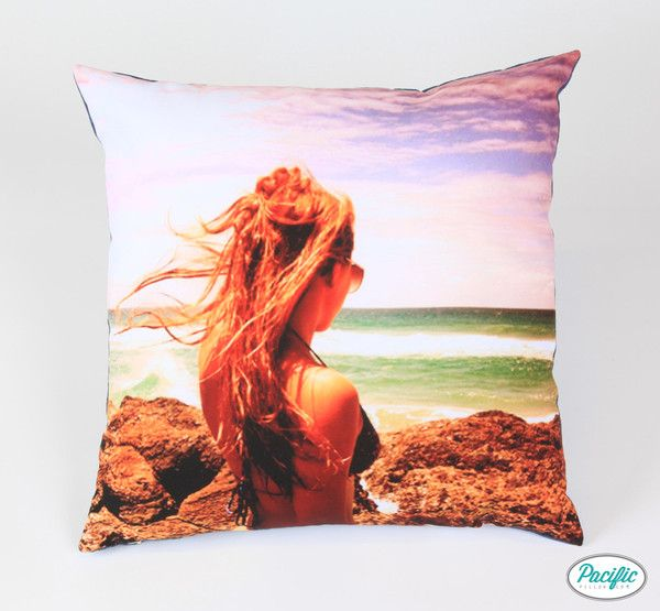 This cushion features a beautiful young girl looking at the sunset on Moreton Island printed on high quality non fade material.