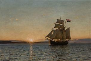 Amaldus Clarin Nielsen (1838-1932): Morgenstemning, 1899