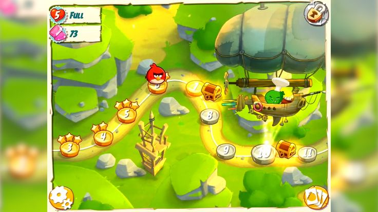 Angry birds under Pigstruction11 map
