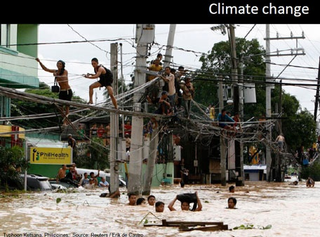 Climate change poses a threat to food production, shelter, habitat and access and availability of drinking water globally. And although it is the big industrial nations such as China, Europe and US that are the greatest carbon emitters, it has often been the less industrialised countries in around the world that have suffered the most damage to their natural environment. All of these factor perpetuate poverty.