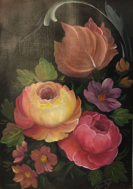 Buy Flower tapestry-1, Oil painting by Theertha Raj on Artfinder. Discover thousands of other original paintings, prints, sculptures and photography from independent artists.