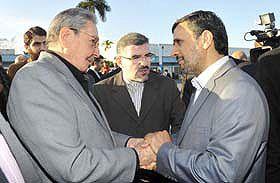 Despide Raúl Castro a Mahmoud Ahmadinejad