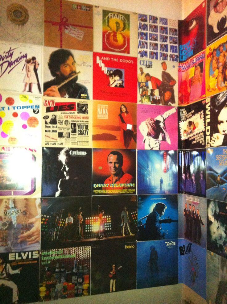 LP væg på Jonas' værelse