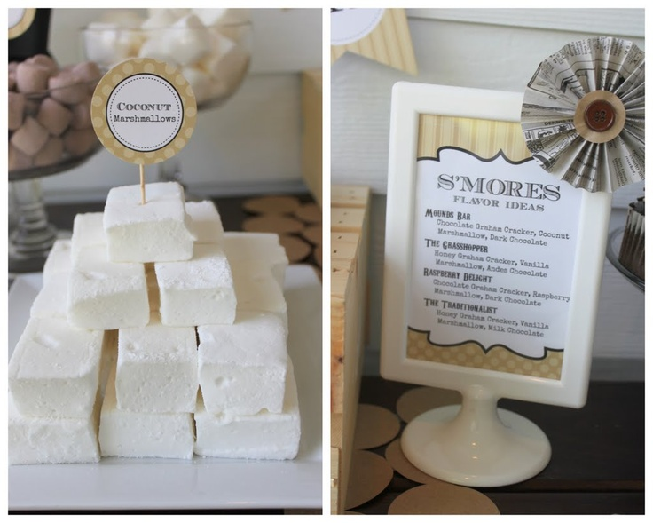 Mirabelle Creations: Coconut Marshmallows & Flavor Combinations Sign