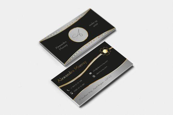 Biglietto da visita elegante  nero e oro. di FabioFerranteDesign