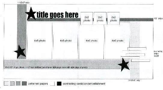 Sketches for Scrapbooking, Volume FourScrapbook Ideas, Allisondavispagemap4Jpg Photos, Allisondavispagemap4 Jpg, Scrapbooking Sketches, Scrapbook Sketches, Allison Davis, Sb Sketches, Davis Sketches, Scrapbook Layout