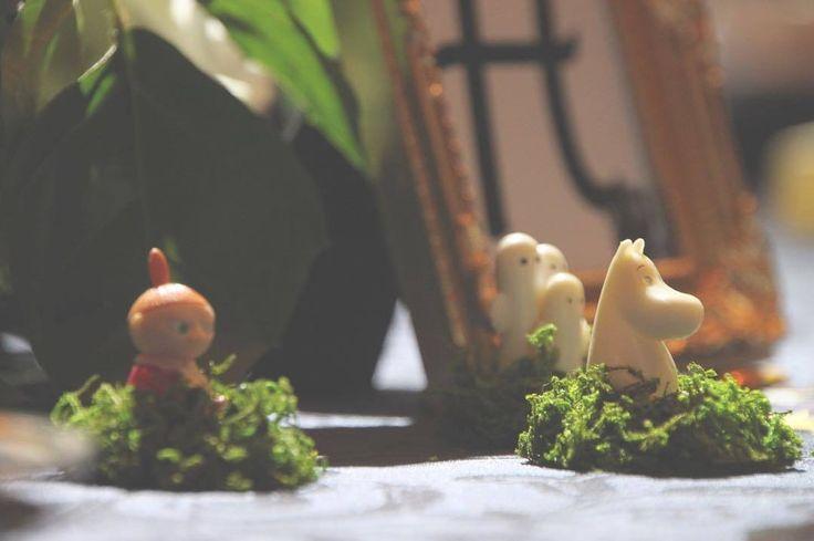 【会場装飾編】テーマカラーはグリーン!ムーミンの仲間たちを取り入れた可愛らしい結婚式♡