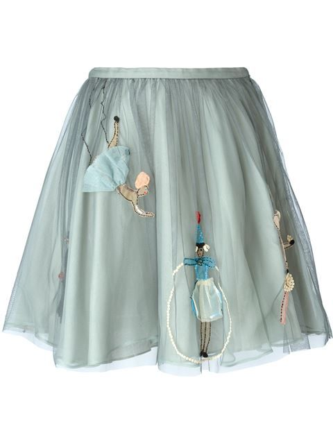 Embroidery and 3-D applique on tulle looks so whimsical on clothing for kids (or the young-at-heart!).