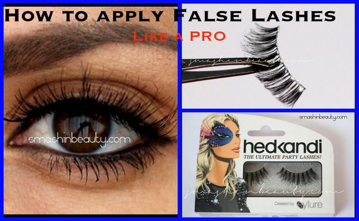 How to apply false lashes like a pro makeup artist makeup 101 makeup for beginners