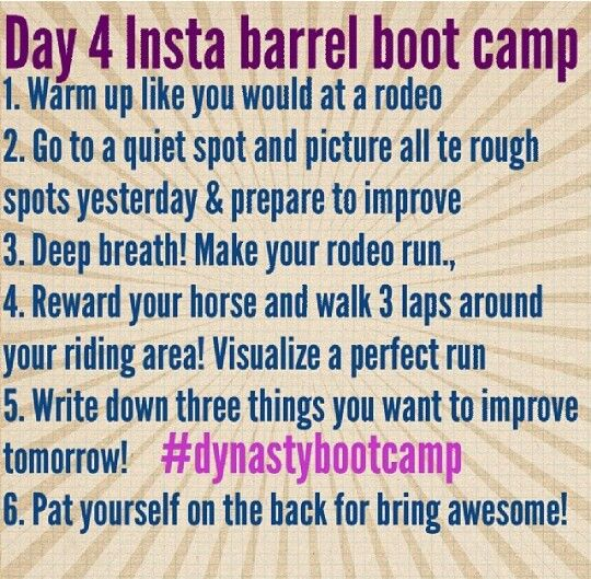 Fallon Taylor Barrel Boot Camp- Day 4