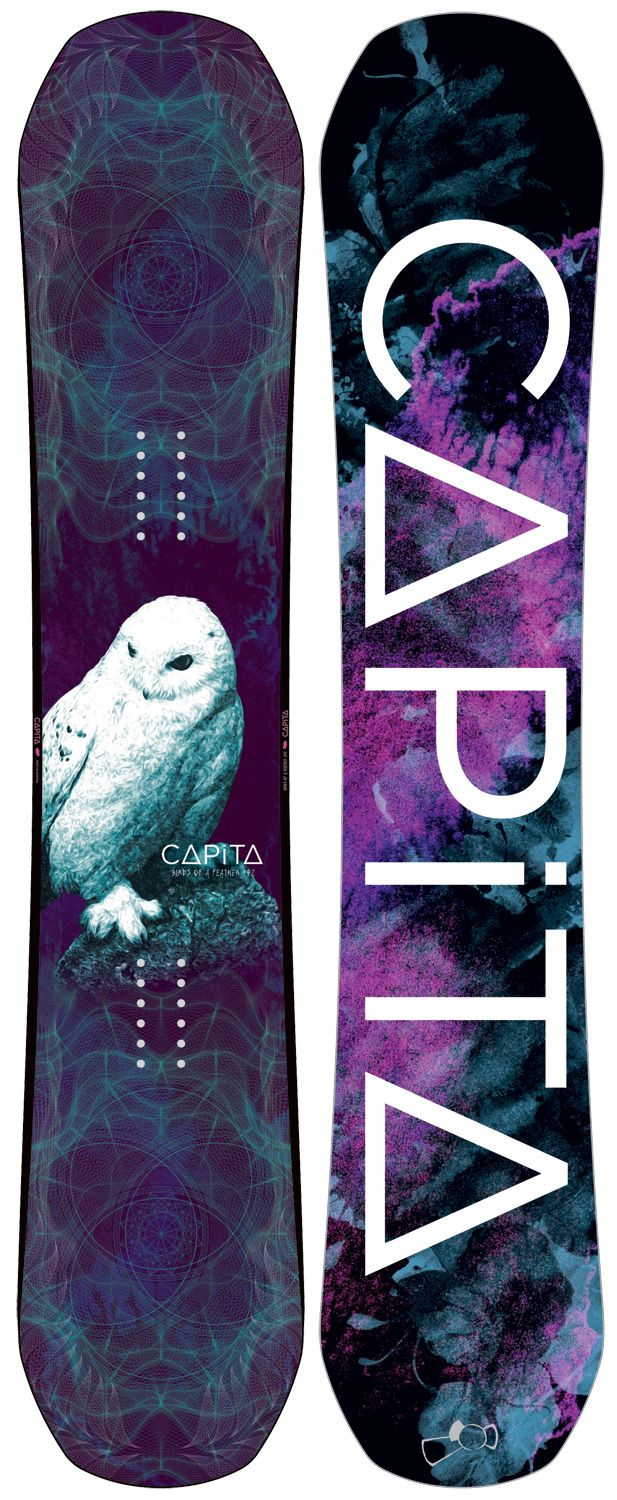 Capita Birds Of A Feather FK Snowboard 142 - Women's This board the top dog in the puppy party. Step up a notch and howl at the moon like a lone wolf on the hunt!