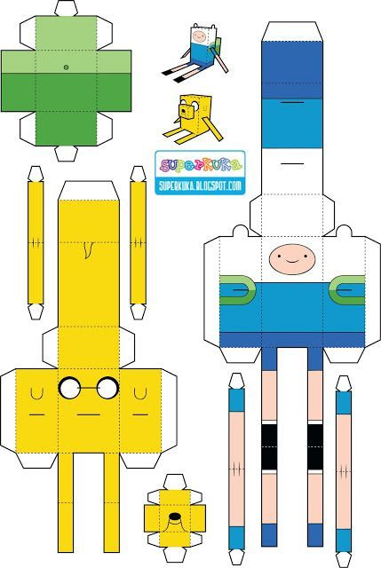 Jake Adventure Time Papercraft Template