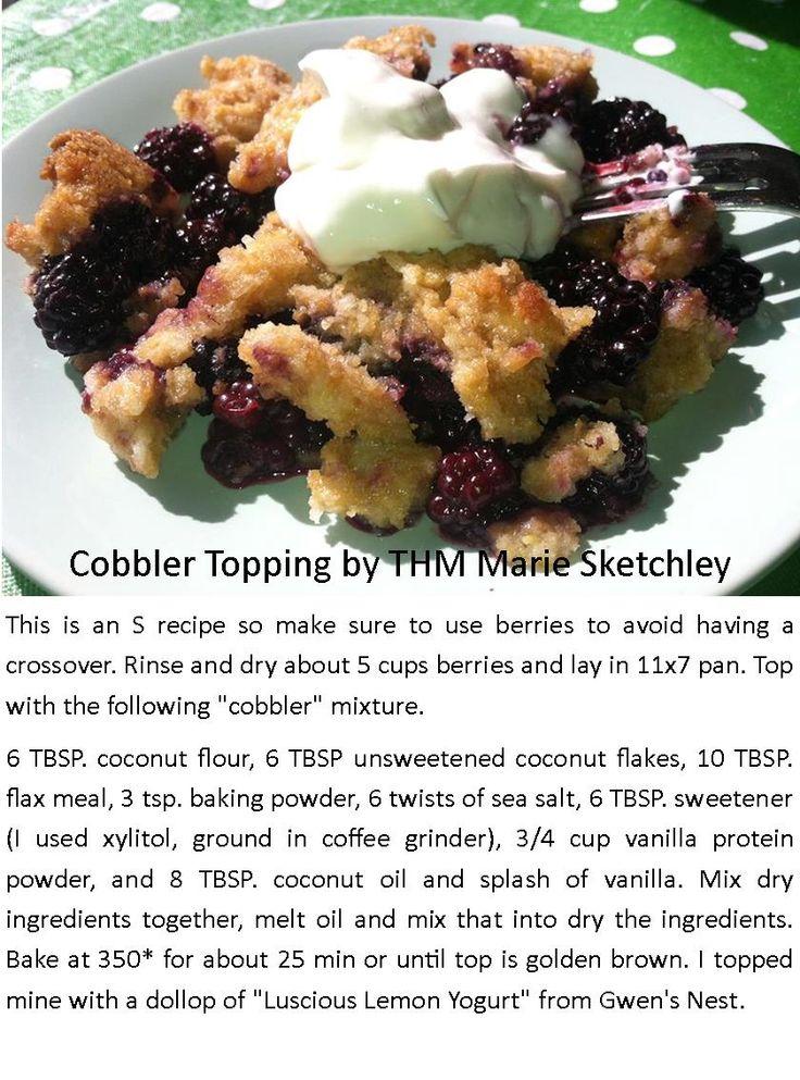 Cobbler Topping for Berries!