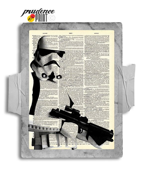 Portrait of a Storm Trooper Original Print on an by PrudencePrint