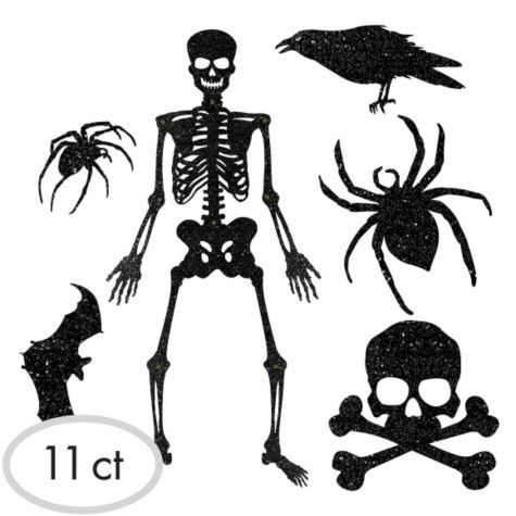 shocktails glitter hanging cutouts 11ct party city skeleton decorationshalloween